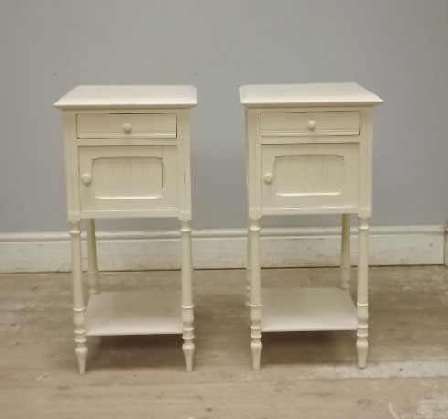 A2568 stylish pair of old french bedside tables watchthetrailerfo