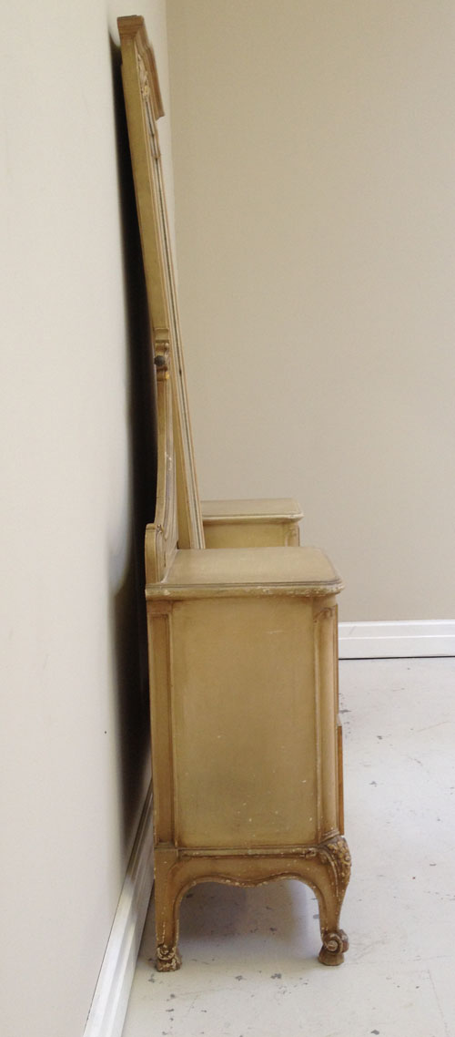 84 Old French Painted And Gilded Dressing Mirror