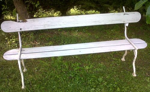 wonderul cast iron antique bench