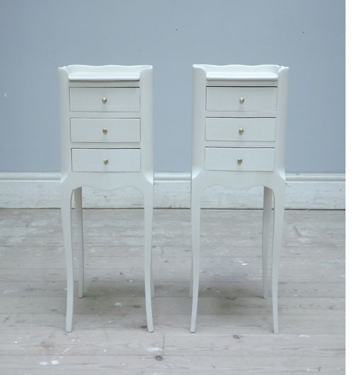 Very Slim Bedside Table a3203 pair of slim french bedside tables