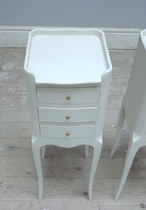 Slim Bedside Tables: A3203 Pair Of Slim French Bedside Tables