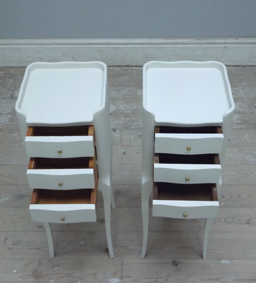 A3203 Pair Of Slim French Bedside Tables