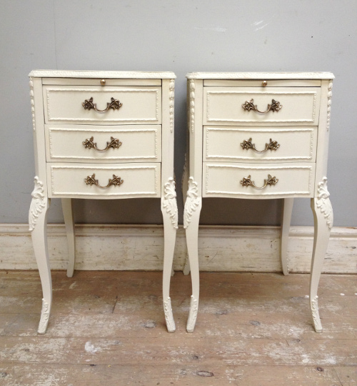 A3945 Pair Of Vintage Bedside Tables