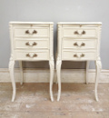 DECORATIVE PAIR OF VINTAGE BEDSIDE TABLES