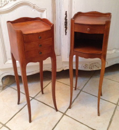 A4027 Slim Pair Of French Bedside Tables