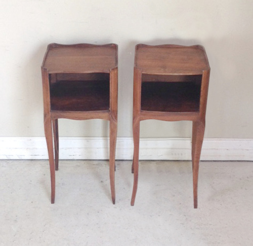 A4289 Slim Pair Of French Bedside Tables