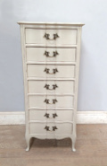 old french louis xv style slim chest of drawers