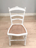 old painted french cane chair