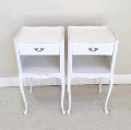 pair of vintage french bedisde tables