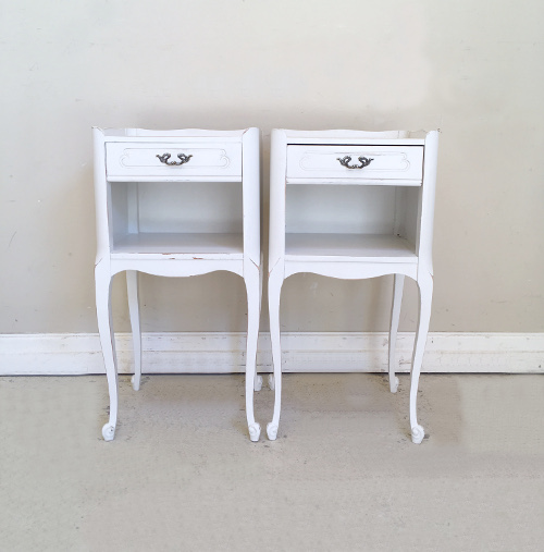 A4415 pair of french bedside tables price 395 pair of vintage french bedside tables watchthetrailerfo