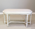 french antique louis xvi style bench / stool