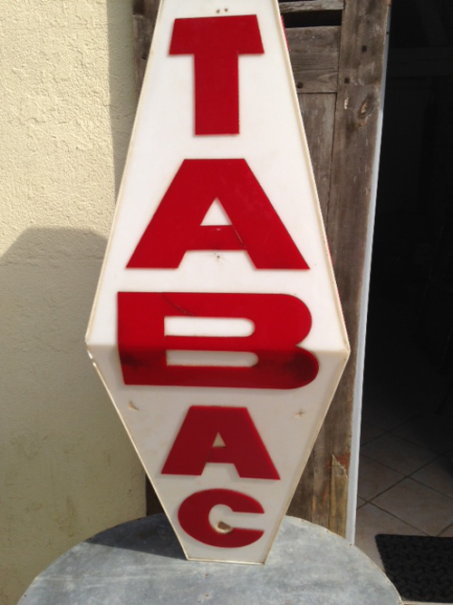 Floor Accessories >> A4520 Full Size Old French Tabac Sign