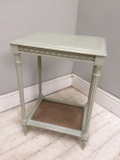 french antique cane console table