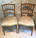 pair of old french Louis XVI occaskonal chairs