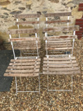 set of old french bistro chairs