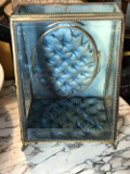 french antique glass casket