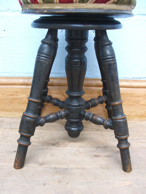 A995 Antique French Adjustable Piano Stool Napolean Iii C1870
