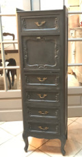 old french slimchest of drawers secretaire