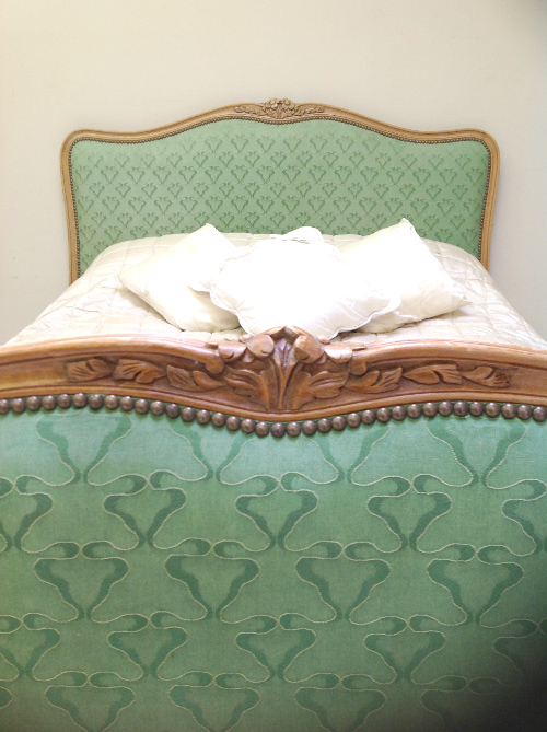 Ib3582 Superb Vintage French Capitone Double Bed