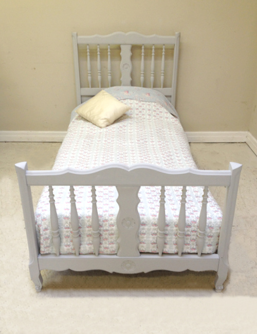 IB3838 OLD FRENCH LOUIS XV STYLE SINGLE BED