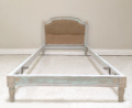 French antique small single upholstered bed