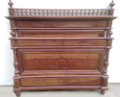 french antique walnut double bed