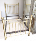 antique brass large single bed