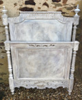 french antique wooden bed