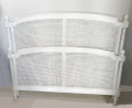 vintage french cane double bed