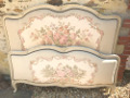 OLD FRENCH TAPESTRY CAPITONE BED