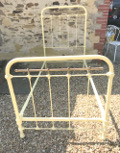 french antique single iron and brass  bed