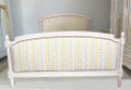 vintage french custom kingsize capitone bed