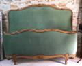vintage french capitone bed