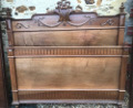 FRENCH ANTIQUE LOUIS XVI STYLE BED
