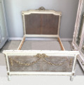 french antique cane kingsize bed
