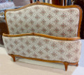 VINTAGE FRENCH UPHOLSTERED CAPITONE BED