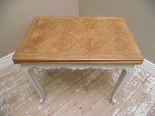 ID2751 Small Vintage French Painted Dining Table