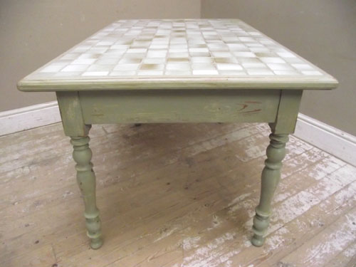 id2994 old tile top kitchen table