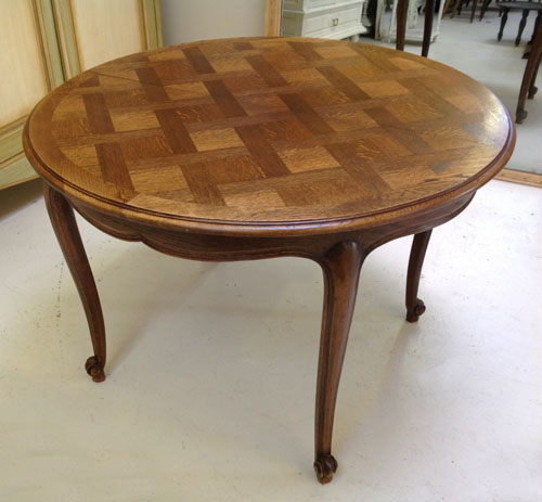 French Style Oak Coffee Table: ID3434 Vintage French Dining Table Oak Provencal Style