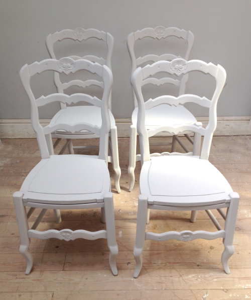 Id3817 Set Of 4 French Dining Chairs