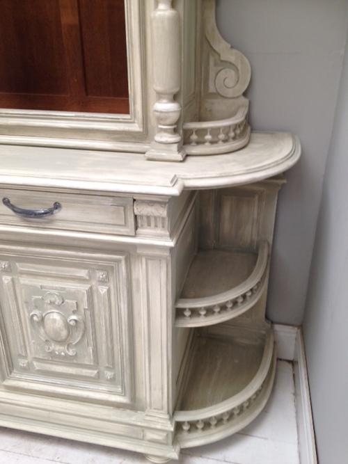 Id4514 French Antique Buffet Dresser