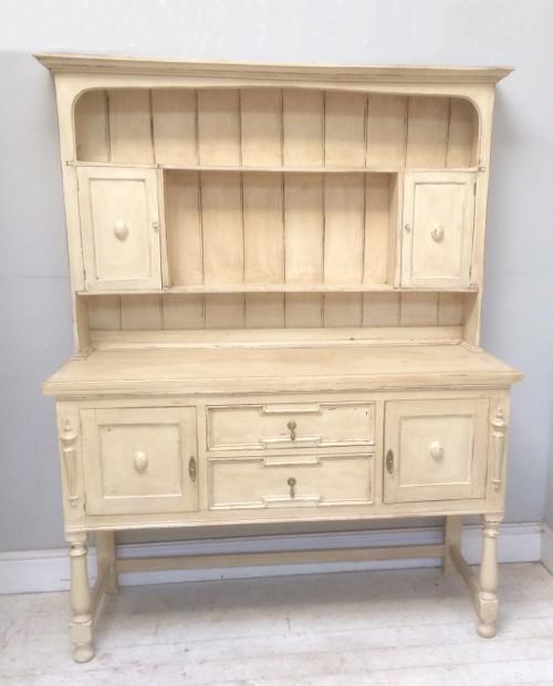 French Kitchen Dresser: ID4643 Superb Antique French Painted Kitchen Dresser