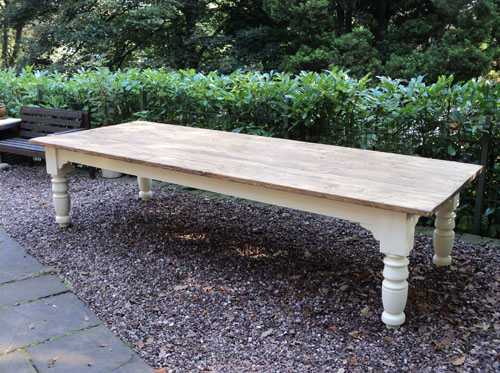 Very Large Farmhouse Style Dining Table