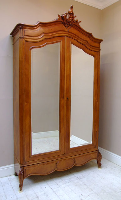 If1615 french antique double door armoire for French style double doors