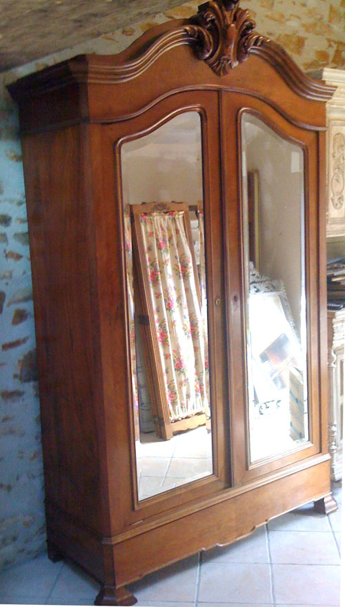 IF2269 STUNNING ANTIQUE FRENCH BAROQUE STYLE ARMOIRE  WARDROBE -> Armoire Style Baroque