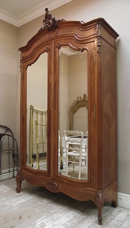 If2772 french antique double door armoire for French style double doors