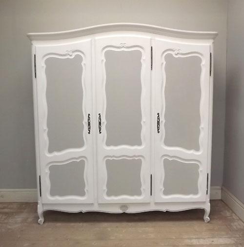Ordinaire Wonderful French Antique 3 Door Armoire