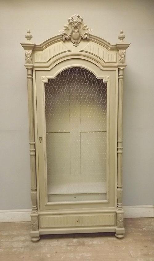 If2982 Antique Single Door Display Cabinet Armoire