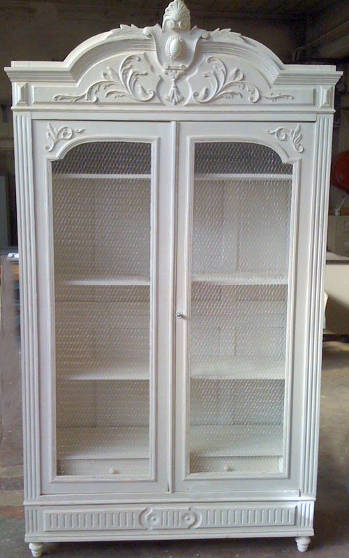 if2989 antique french henri ii style double armoire. Black Bedroom Furniture Sets. Home Design Ideas