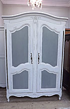beautiful vintage french 2 door armoire